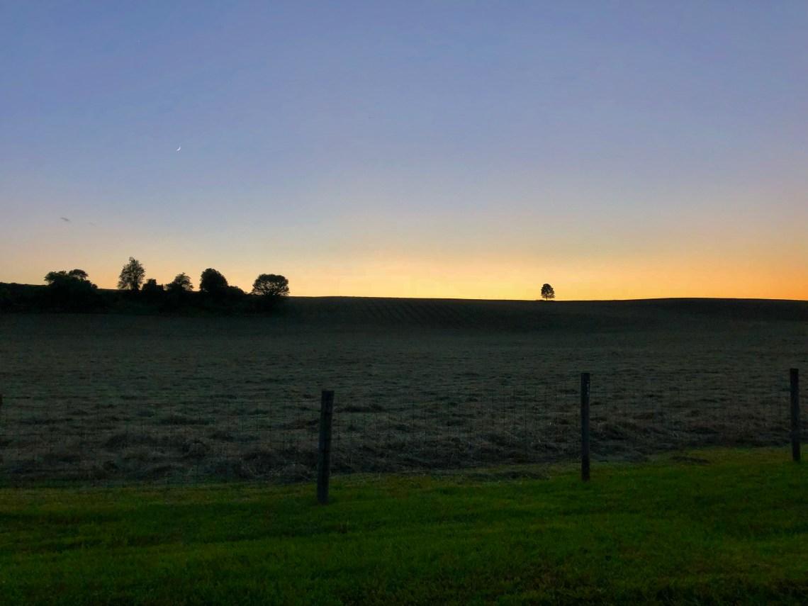 Sunset on Doe Run Ridge, wise angle view