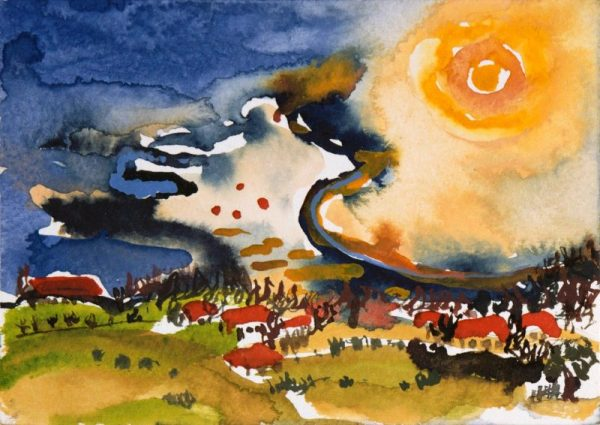 Harald Hoffmann de Vere - Sonnenauge über Kloster