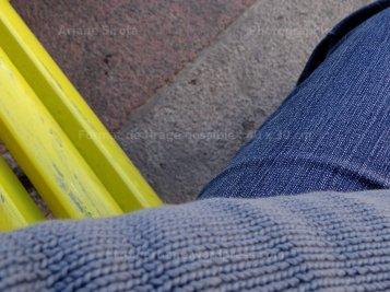 Tiers bleu et jaune