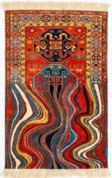 Oiling. Handmade woolen carpet. 100X150cm. 2012