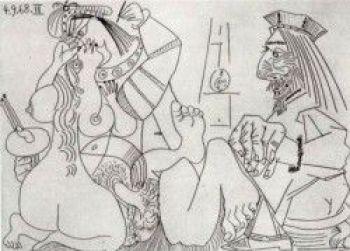 Dibujo erótico de Picasso