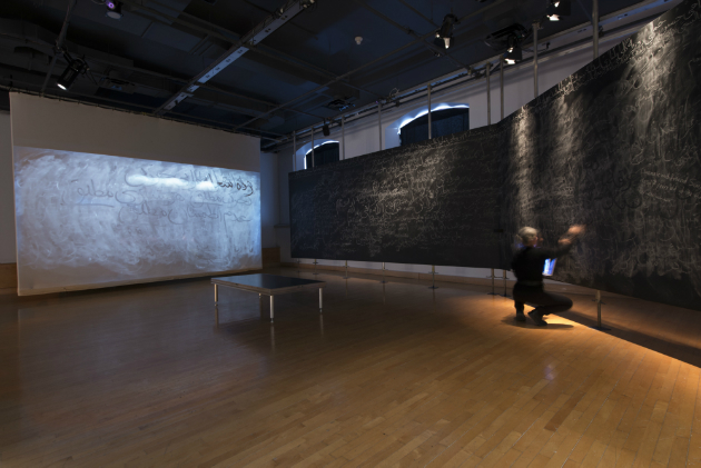 Vue d'installation, Ephemeral Monument (2011). Crédit : Paul Litherland