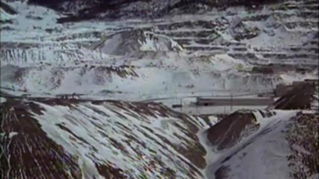 Exploitation minière à Thetford Mines, lieu de tournage de Mon oncle Antoine