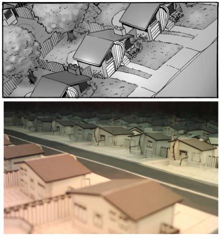 Maquette à l'échelle de la ville de Bungaplopis Source : Page Facebook de Jean-Paul Eid