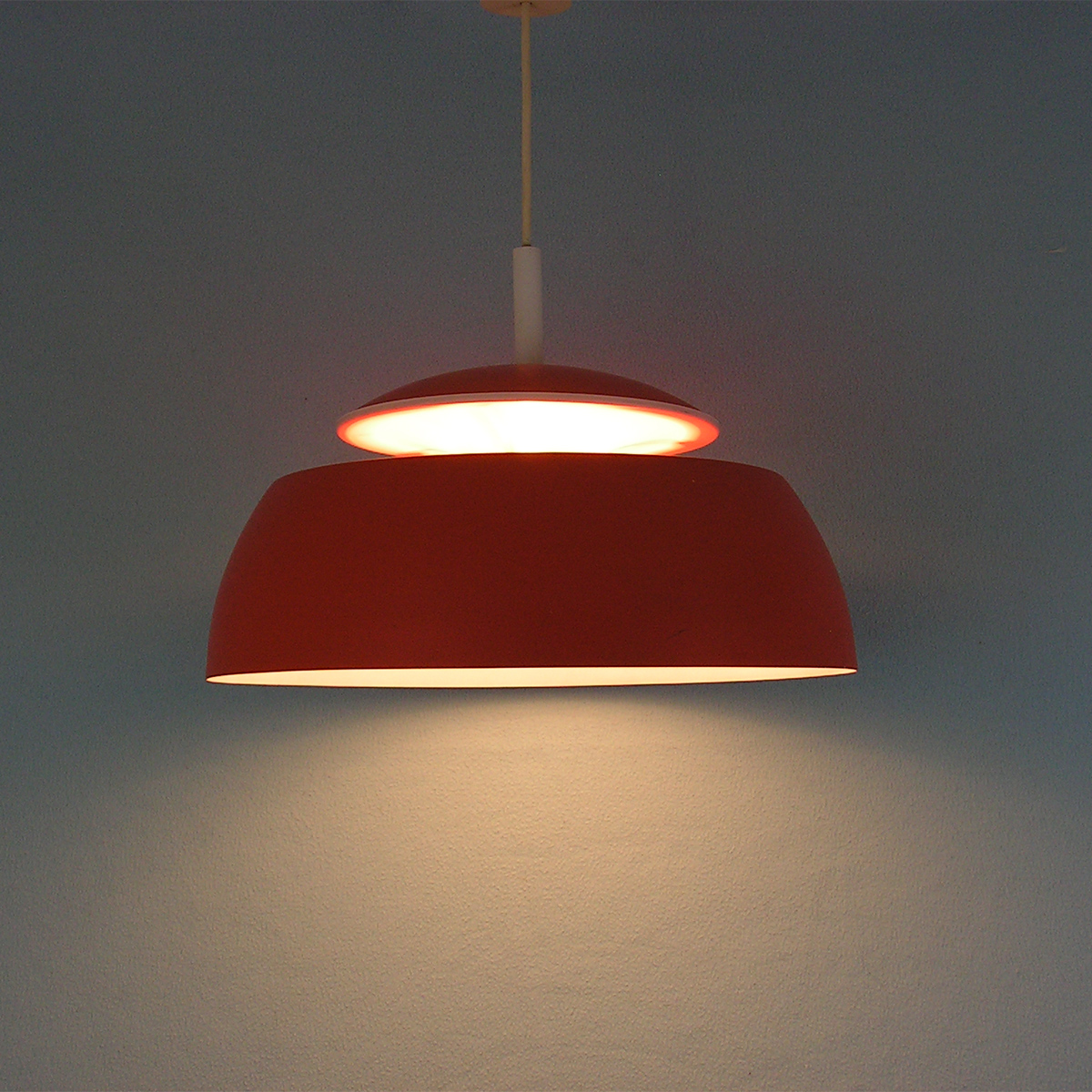 pendant lamp-temde-orange-vintage