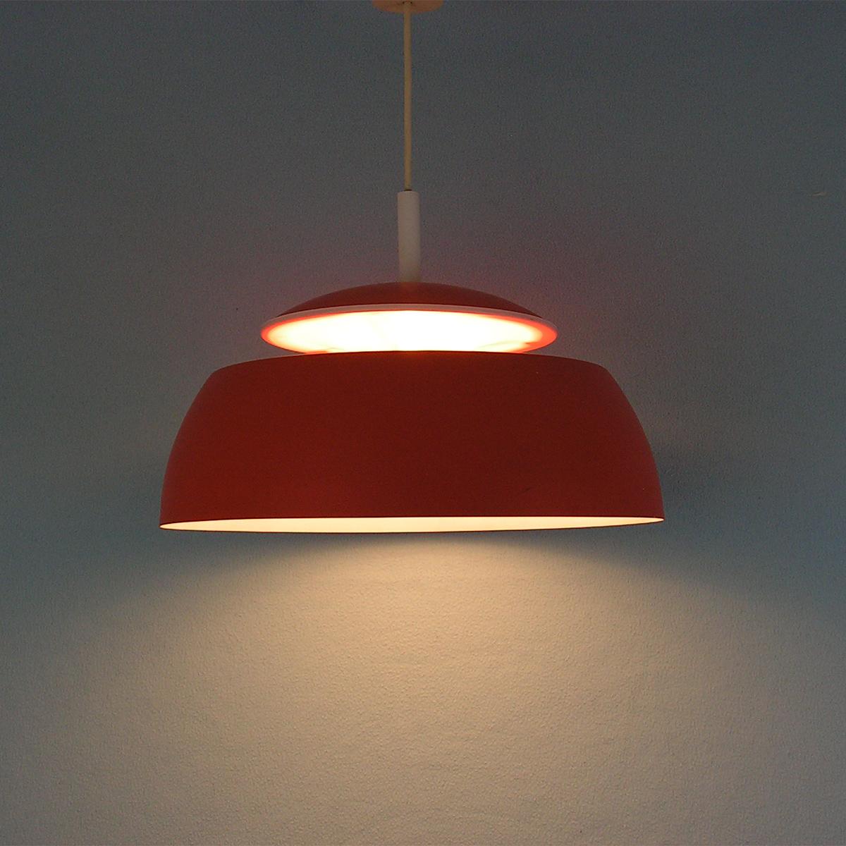 pendant lamp-temde-orange-vintage