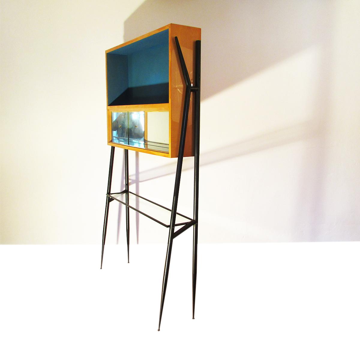 cabinet-compass-feet-bar-console-vintage-italian-gio-  sc 1 st  Artichoke Vintage Furniture & Italian bar cabinet | Artichoke Vintage Furniture