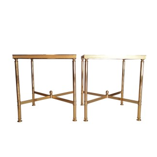 side tables gold eglomized glas