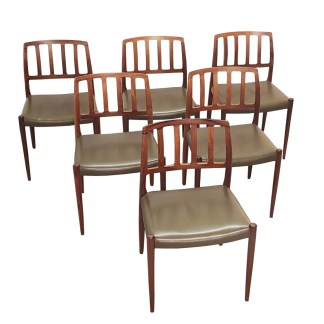 Moller danish vintage chairs 83