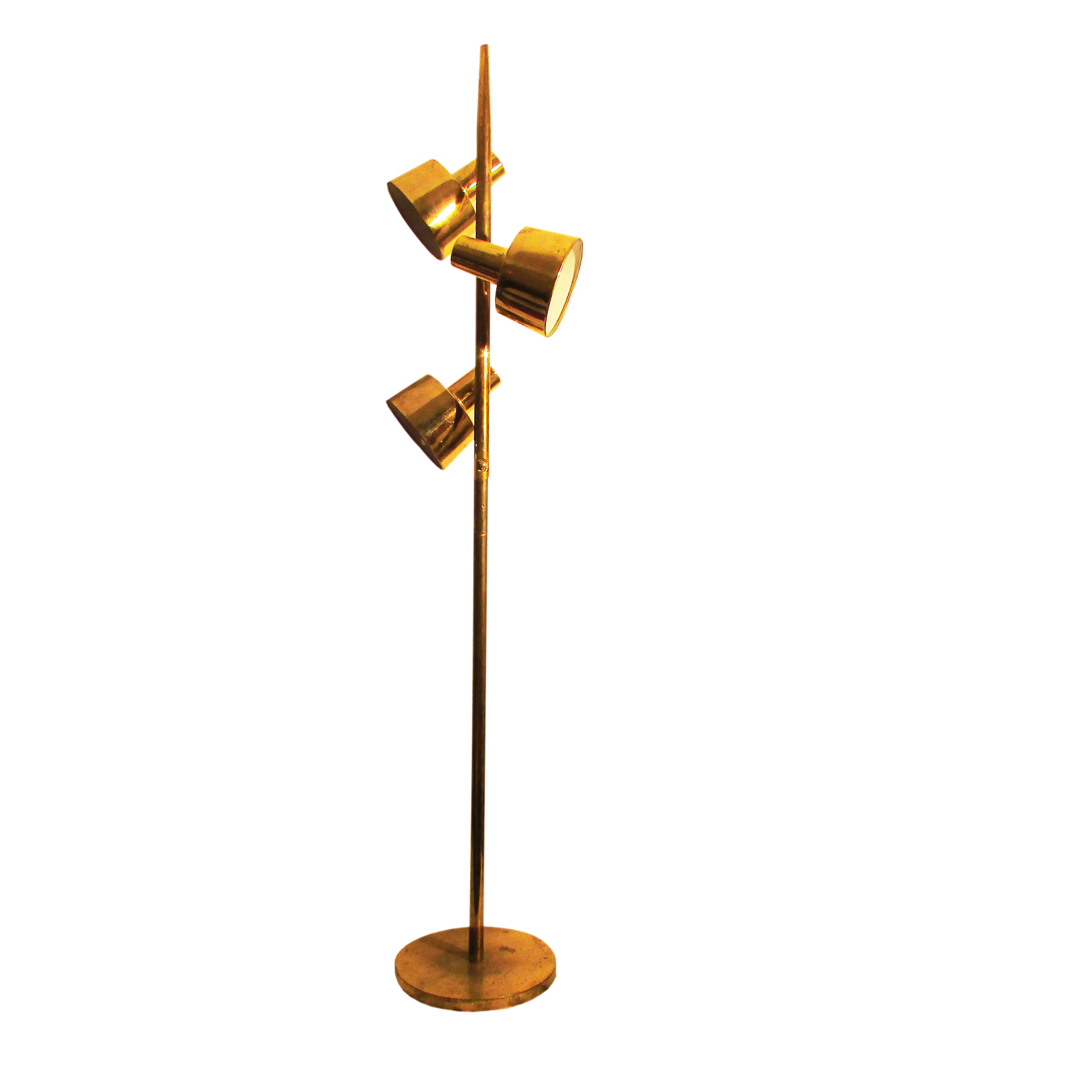 vintage american gold floor lamp