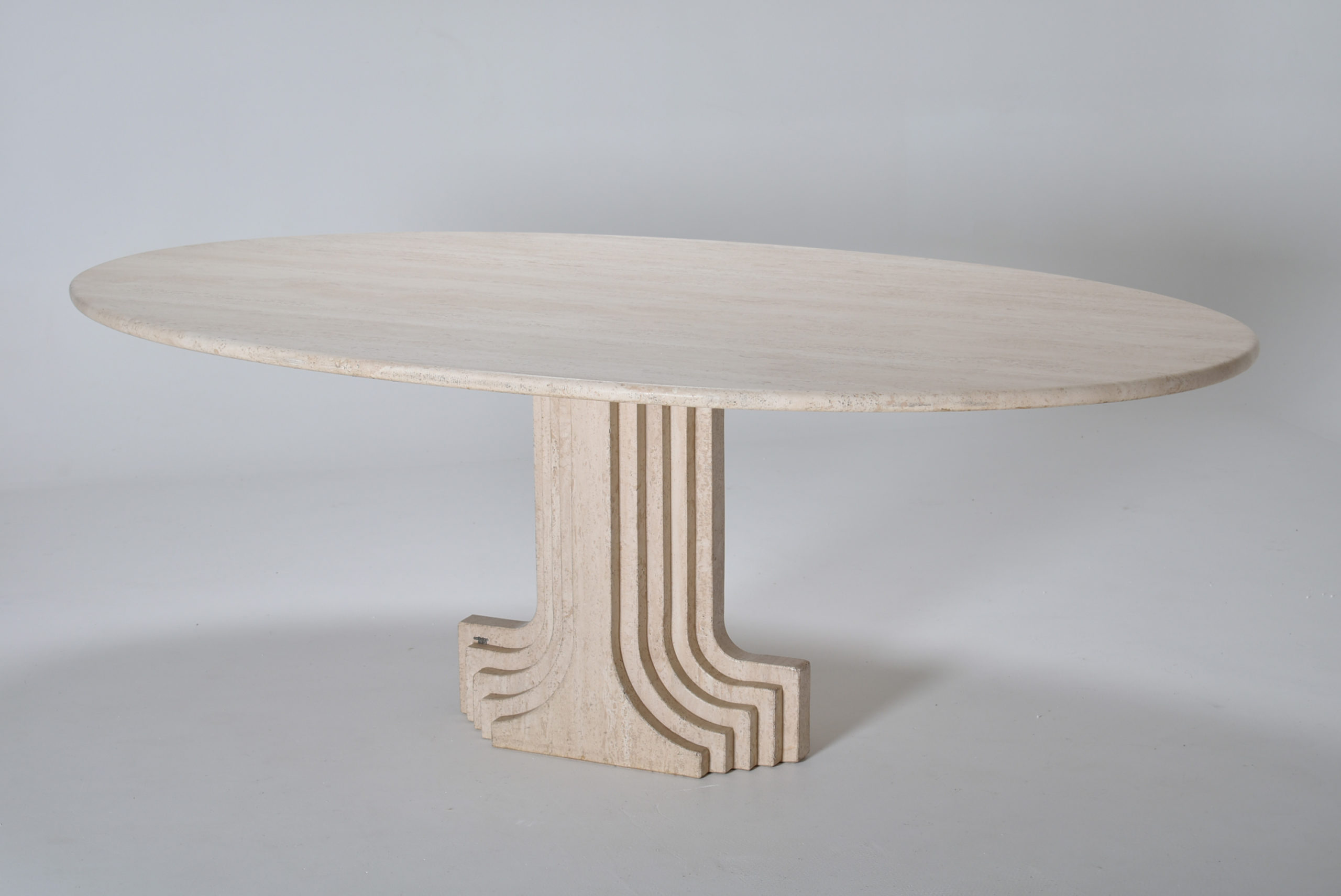 for sale scarpa travertine dining table