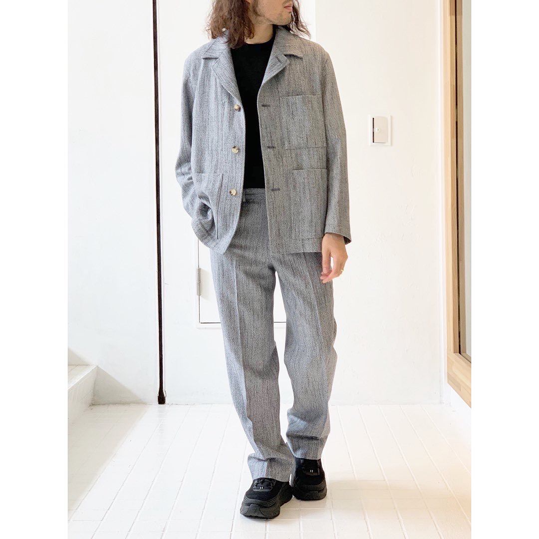 【AURALEE】WOOL SILK MIX TWEED.