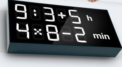 Clock that uses math to tell time