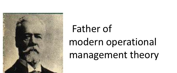 Operational management theory- Henry Fayola