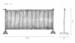 Clôture bardée - 7 unités Quai de Jemmapes - 3 unités Carrefour Stalingrad - 5 unités Avenue de Flandres