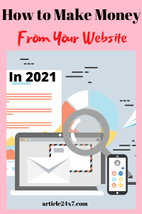 How to Make Money From Your Website