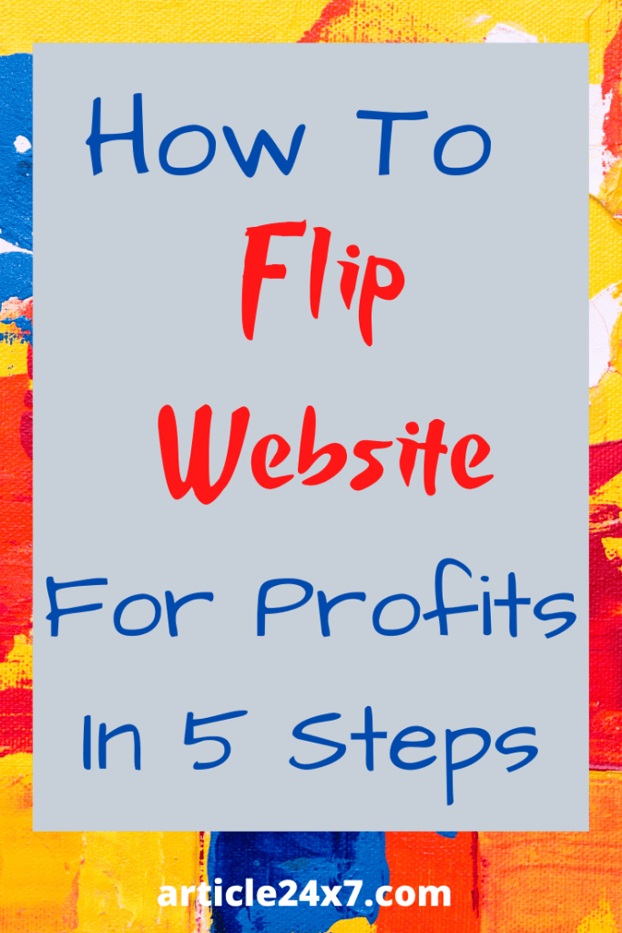 how to flip websites