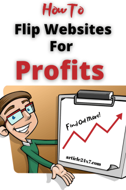 flip websites for profit