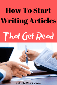 Writing Articles That Get Read
