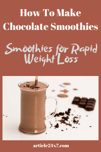 How to make chocolate smoothie