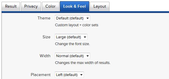 DuckDuckGo possui temas e tamanhos diferentes
