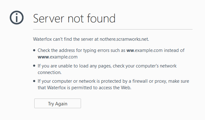 What Does It Mean When It Says Server Not Found