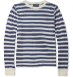 Dolce & Gabbana Striped Cotton-blend Sweater