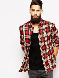 Asos Oversized Shirt In Long Sleeve With Check