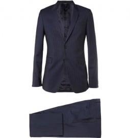 Paul Smith London Navy Kensington Slim-fit Pinstripe Cotton Suit