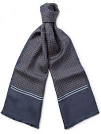 Écharpe en sergé de soie à imprimé médaillon Gucci