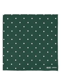 Reiss Garbo Polka Dot Pocket Square Emerald