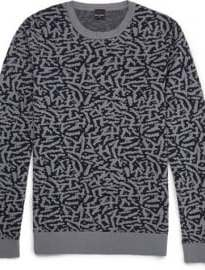 Ps By Paul Smith Jungle Camo Cotton Sweater