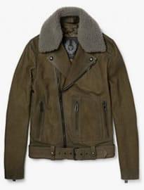 Belstaff Ashworth Shearling-trimmed Suede Biker Jacket
