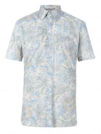 Chemise à fleurs à manches courtes en pur coton de luxe Autograph