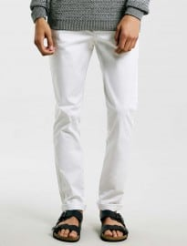 Topman White Stretch Skinny Chinos