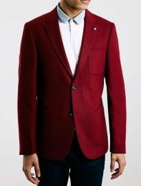 Topman Peter Werth - Blazer en flanelle rouge