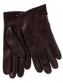 John Lewis Fleece Lined Leather Gloves Oxblood