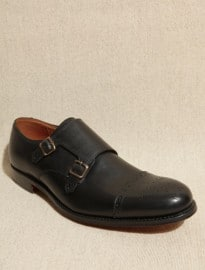 Grenson Ellery Black Monk Brogues