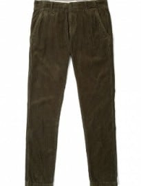 Knowledge Cotton Apparel Forest Green Tapered Leg 8 Wale Cords