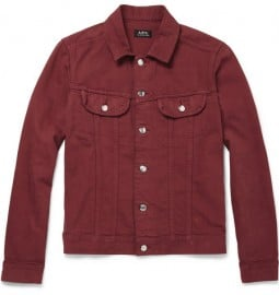 A.p.c. Slim-fit Washed-denim Jacket