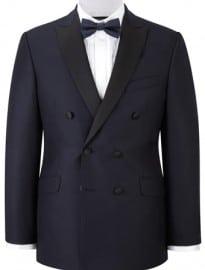 Austin Reed Navy Double Breasted Dresswear Jacket