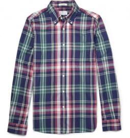 Gant Rugger Slim-fit Madras Plaid Brushed-cotton Shirt