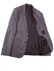Asos Slim Fit Suit Jacket In 100% Wool Pinstripe