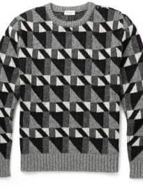 Saint Laurent Geometric-intarsia Wool Sweater