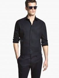Chemise coupe ajustée en coton stretch He By Mango
