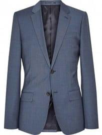 Reiss George B Blazer Slim Fit Bleu Airforce