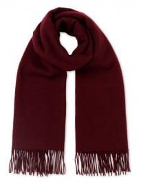 Merino Wool Scarf Burgundy