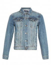 Topman Mid Wash Denim Western Jacket