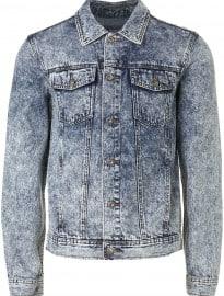 Topman Acid Wash Blue Denim Western Jacketet
