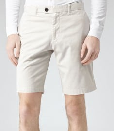 Reiss Wicker Tailored Chino Shorts Stone